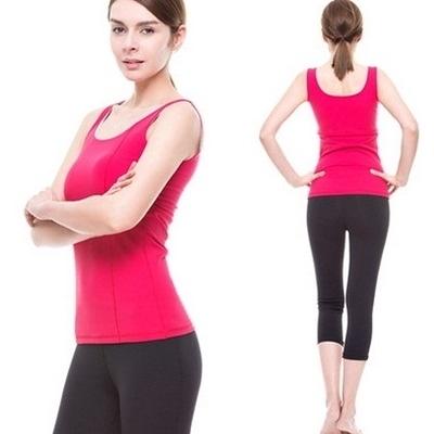 瑜珈服套裝含健身衣+運動褲-時尚精緻運動背心極致修身顯瘦女運動服7色69n26【時尚巴黎】