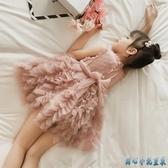 女童禮服 韓版公主裙兒童連身裙洋氣蓬蓬網紗裙夏裝薄款中小童透氣裙子 DR35034【甜心小妮童裝】