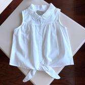 純棉薄款女童寶寶襯衫無袖襯衣夏季短款上衣-5.23 嬌糖小屋