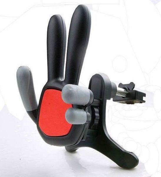 【SZ】出風口手指支架 汽車空調口伸縮手機支架 萬能通用車載出風口托架座 車用手機架