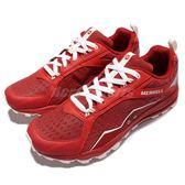 Merrell 戶外鞋 All Out Crush 紅 灰 越野 慢跑 透氣 運動鞋 男鞋【PUMP306】 ML35539