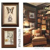 復古懷舊美式歐式經典5寸6寸7寸8寸10寸A4仿木相框擺台創意掛牆『潮流世家』