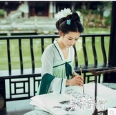 新款古裝漢服大唐華麗貴妃服裝仙女公主齊胸襦裙古裝影樓攝影寫真漢服套裝 zh7906『美好時光』