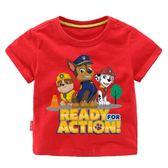 汪汪隊衣服男童夏季短袖T恤男孩上衣兒童夏裝3歲女童童裝4女寶寶5【小梨雜貨鋪】