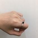 [現貨] 黑色麻花寶石戒指2件組 MISH2304 戒指 手飾 配件