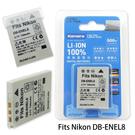 Kamera 通過BSMI認證 NIKON EN-EL8 高容量相機鋰電池