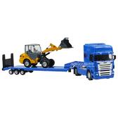 HY TRUCK華一 5012-25A機械運輸車+鏟車 工程合金車模型車 拖板車 聯結車(1:50)【楚崴玩具】