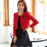 9919-JK韓版小香風西裝開衫長袖小外套 ~美之札