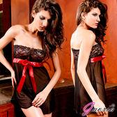 情趣用品-商品送潤滑液*2♥Gaoria飛進你心抹胸蕾絲大紅蝴蝶性感網紗睡裙情趣睡衣情趣用品