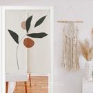 可愛時尚棉麻門簾E851 廚房半簾 咖啡簾 窗幔簾 穿杆簾 風水簾 (60cm寬*90cm高)
