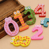 ♚MY COLOR♚兒童早教木質數字磁鐵(十個裝) 符號 學習 冰箱 認數 益智 玩具 環保 小號【K102-1】