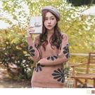 《FA2203》溫暖針織小立領緹花長袖毛衣/上衣 OrangeBear