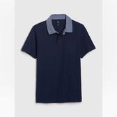 Gap男童棉質舒適單胸袋POLO衫539261-海軍藍