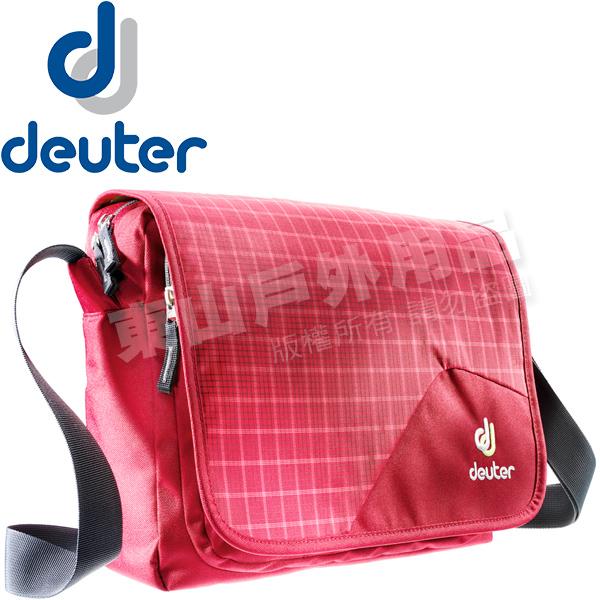 Deuter 85043_莓/紅格 10L休閒側背包 Attend側背包旅遊斜背包