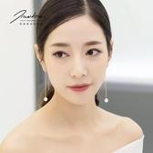 仿珍珠耳線 女氣質韓國簡約時尚長款性感耳環 耳墜個性百搭耳鏈 js21480『小美日記』
