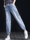 牛仔褲女2021年新款春秋季寬鬆直筒褲高腰顯瘦顯高垂感小腳褲子潮 黛尼時尚精品