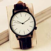 韓國手錶女學生韓版時尚復古簡約男表女表皮帶情侶手錶wy 【快速出貨八折免運】