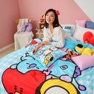 床包 / 雙人【BT21全體總動員系列】含兩件枕套 高密度磨毛 戀家小舖台灣製