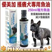 ◆MIX米克斯◆Lintbells YuMEGA優美加【搔癢犬專用250ml】複方魚油,含OMEGA3,OMEGA6,EPA增強配方