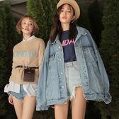 牛仔外套女新品春秋新款復古短款寬鬆原宿bf風韓版學生牛仔衣