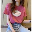 短袖T恤 短袖t恤女早春新款韓版寬松印花圓領上衣半袖體恤內搭打底衫 快速出貨