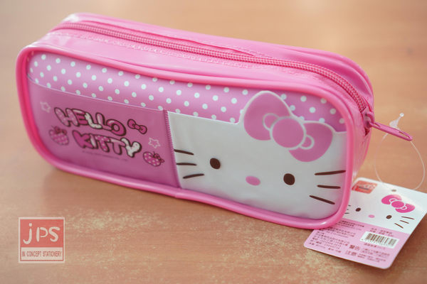 Hello Kitty 造型筆袋 (粉紅點點)