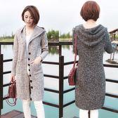 新款針織開衫女上衣韓版中長款大碼顯瘦加厚毛衣外套 黛尼時尚精品
