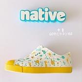 《7+1童鞋》中童 Native海底樂園 防水洞洞鞋 休閒鞋 6091 黃色