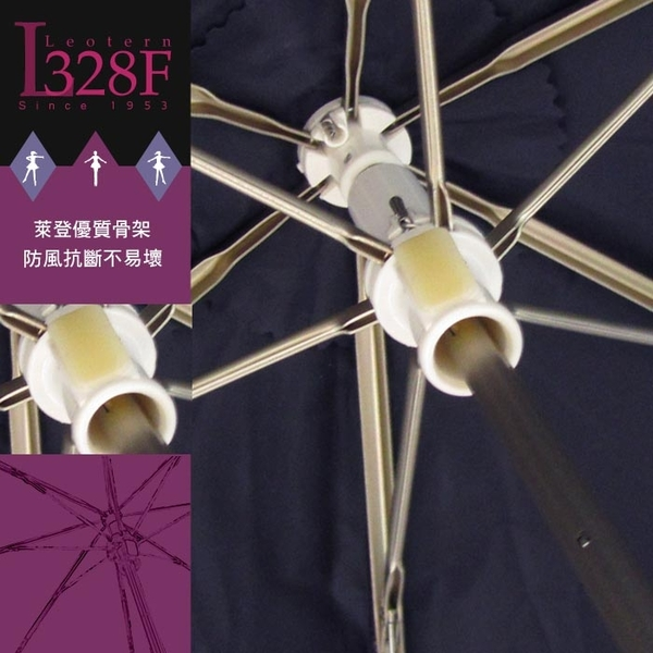 雨傘 陽傘 萊登傘 抗UV 防曬 黑膠 色膠三折傘 中傘面 直接推開 不夾手 Leotern 舞孃(粉紅)
