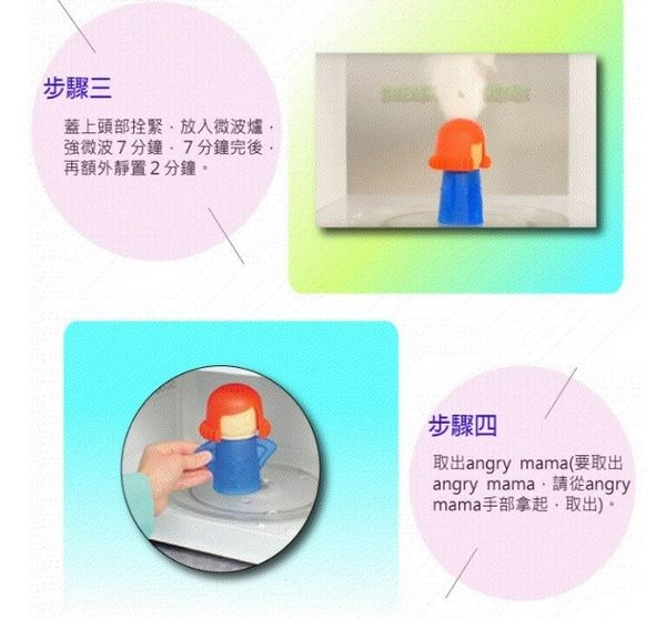 【Miss.Sugar】生氣媽媽 微波爐清潔神器【P000055】