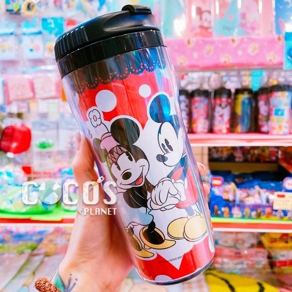 正版 迪士尼 米奇米妮 隨行杯曲線杯隨手杯杯子水杯 耐熱 台灣製 米奇米妮款 COCOS PP080