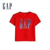 Gap 男幼童 Logo活力撞色圓領短袖T恤 577656-正紅色