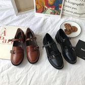 娃娃鞋小sun家韓國ulzzang街拍皮鞋復古圓頭學院娃娃鞋休閒chic單鞋女 【時尚新品】