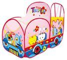 *粉粉寶貝玩具*超限量新款~粉嫩動物樂園火車帳篷球屋~小朋友最愛的汽車造型球屋~堅固耐用~