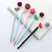 【03606】 時光毛球中性筆 絨毛吊飾 0.5mm黑色 開學文具 辦公室 原子筆