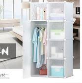 全館79折-宿舍簡易衣櫃簡約現代經濟型塑料樹脂衣櫃 組合組裝收納衣櫥WY