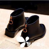 短靴 初秋款小短靴女小跟春秋冬季2018新款潮韓版低跟粗跟馬丁靴子冬天