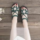 涼鞋女仙女風2019新款夏百搭學生鞋子ins潮夏季時尚厚底鬆糕女鞋