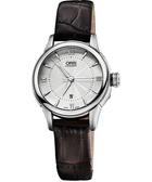 ORIS 豪利時 Classic 系列品味時尚機械女錶-銀x咖啡/30mm 0156176874071-0751470FC