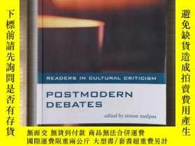 二手書博民逛書店cultural罕見criticism postmodern debates postmodernism post