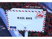 宜室家居信箱郵筒 信封造型掛墻立桿式郵箱信箱信報箱郵筒 igo 宜室家居