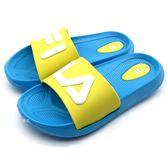《7+1童鞋》FILA 2-S431T-361  輕量 防水   運動拖鞋 4244  綠色