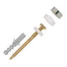 【 麗室衛浴】德國FISCHER S8 D70WCR白磚用螺絲與膠套, 抗衝擊、耐腐蝕2支1包