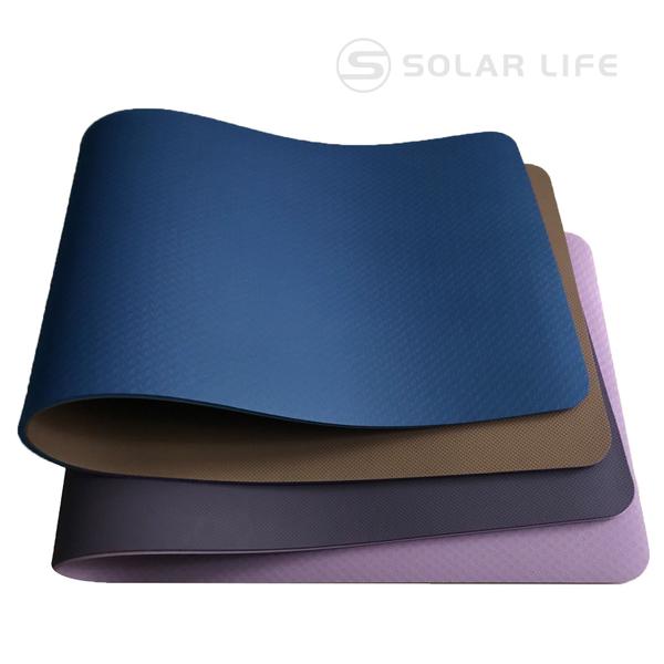 QMAT 素色雙面止滑瑜珈墊10mm.加厚運動軟墊 健身止滑墊 嬰兒爬行墊 折疊韻律地墊 防水防滑遊戲墊