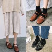 韓國甜美復古圓頭女學生娃娃休閒單鞋小皮鞋