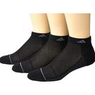 Adidas 男低切運動襪三雙包(黑色)