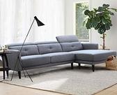 【歐雅系統家具】霍爾姆分割式布沙發-L型-淺灰藍 / 沙發 / 三人沙發 / 12層內材