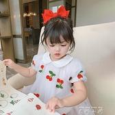 2021女童公主裙夏季中小童寶寶洋裝兒童短袖網紗裙子夏款童裝 米娜小鋪
