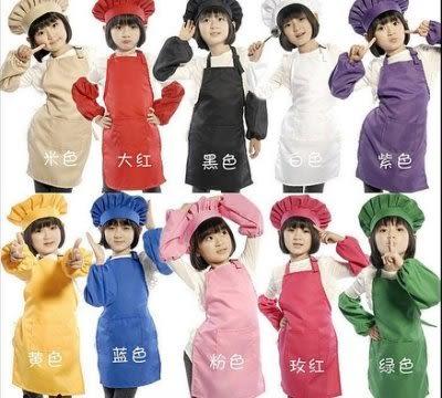 演出服兒童畫畫圍裙套裝可印字LOGO高品質【藍星居家】