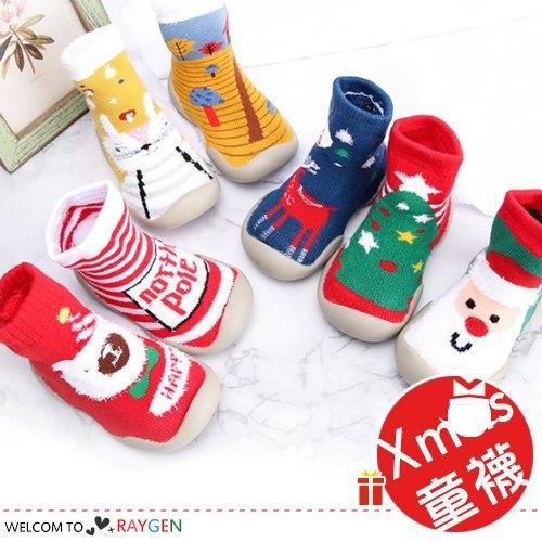 聖誕寶寶學步鞋襪 加厚毛圈 地板襪